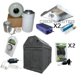 315w CDM 2.4m x 1.2m Premium LOFT or SHED Grow Tent Kits
